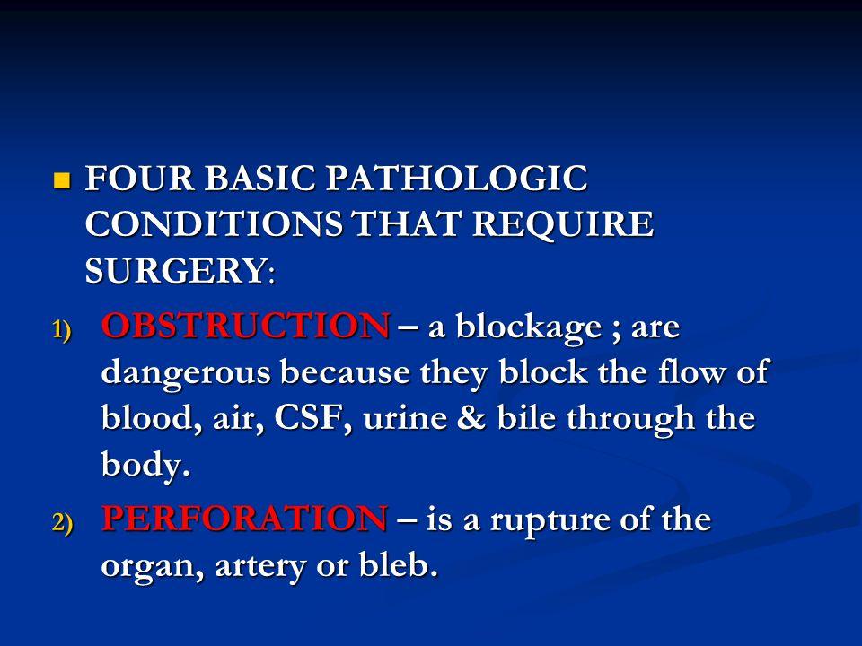 7.CONSTRUCTIVE – repairing the damaged tissue or congenitally defective organ.