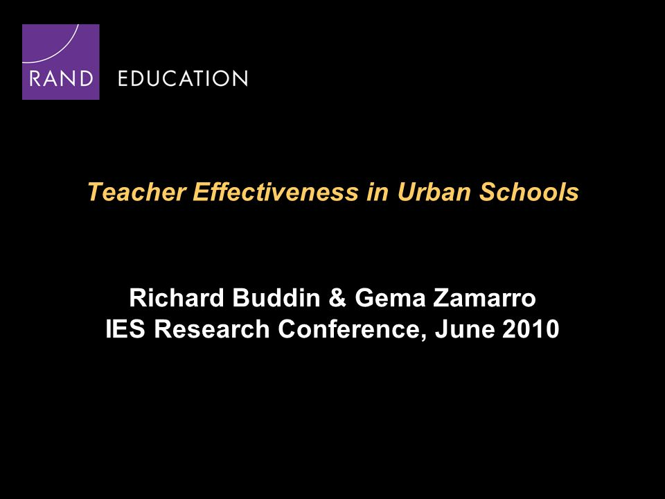 2 Research Questions How does teacher quality vary across classrooms and across schools.