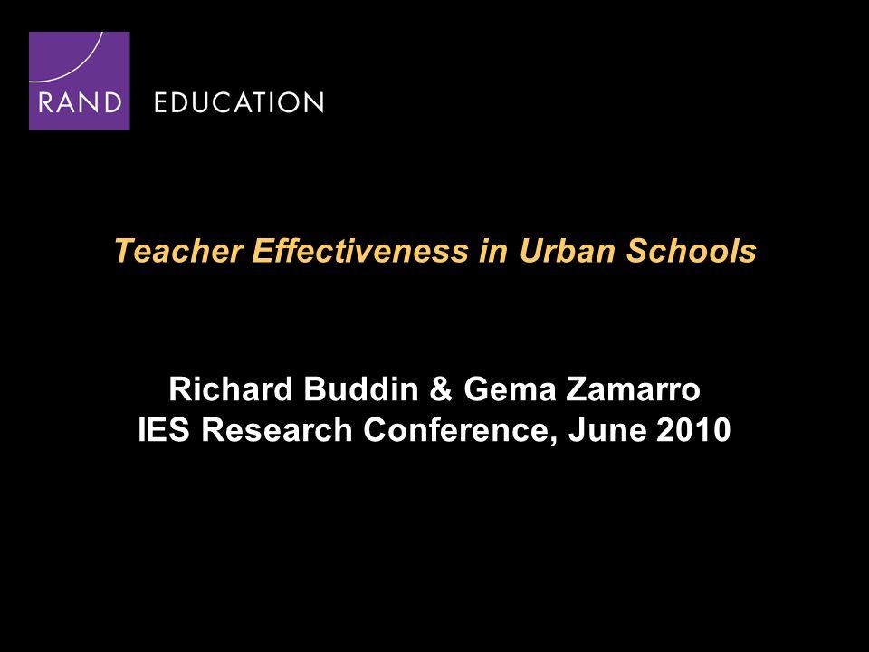 12 Do Higher Scoring Teachers Have Better Student Achievement in Their Classrooms.