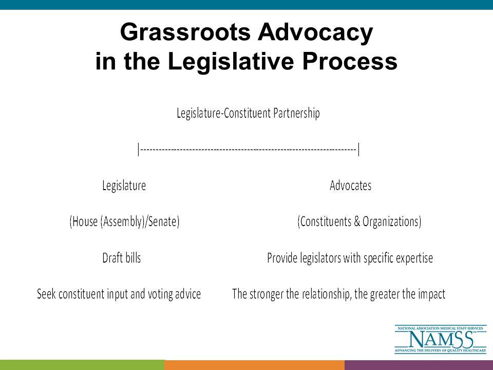 Grassroots Advocacy in the Legislative Process