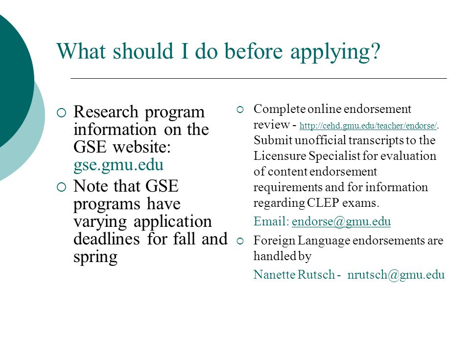 What should I do before applying.