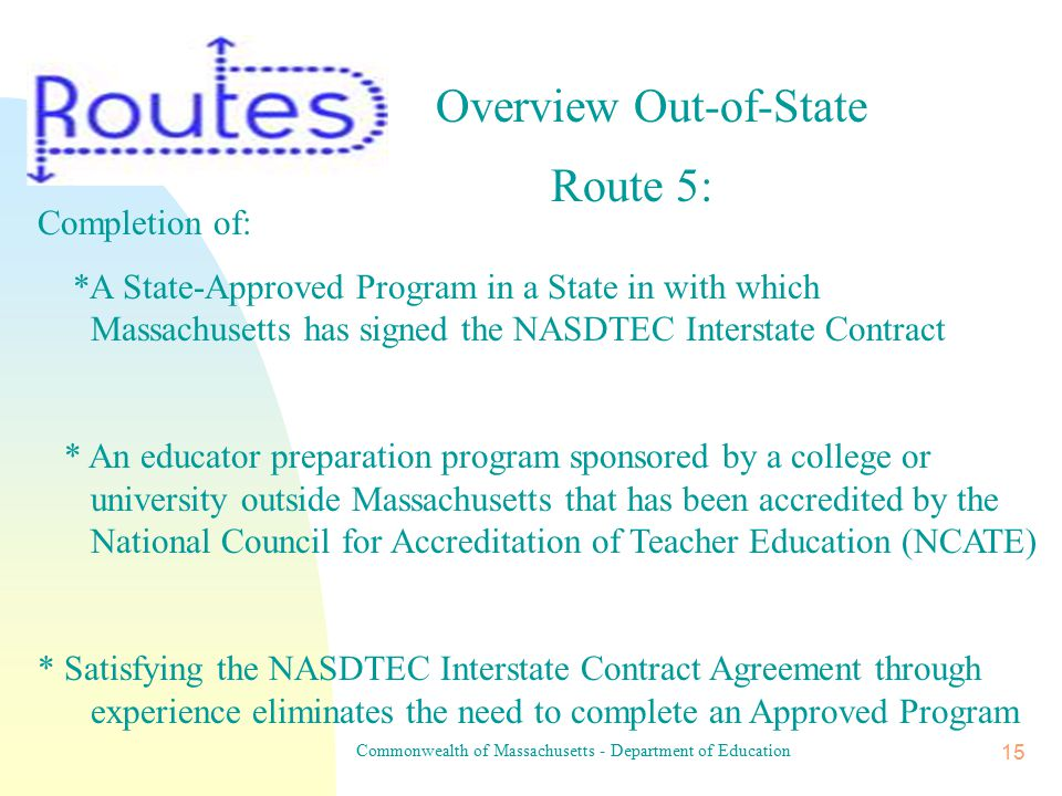 Commonwealth of Massachusetts - Department of Education 14 1-4 Approved Ma.