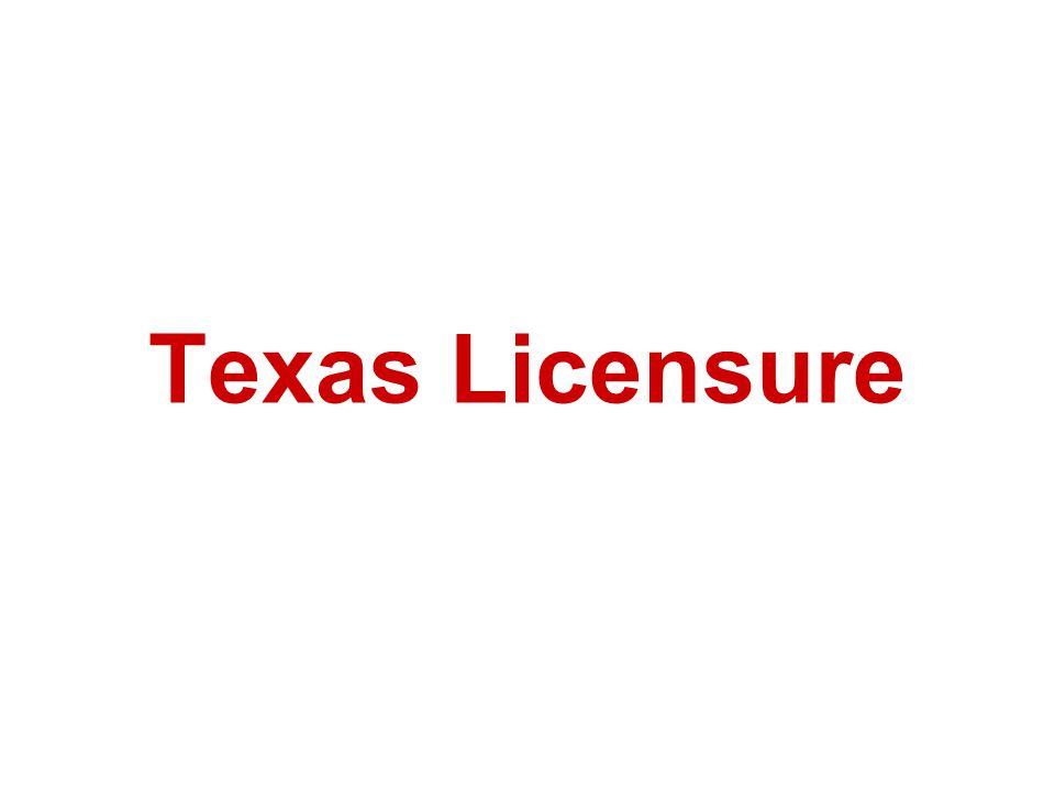 Texas Licensure