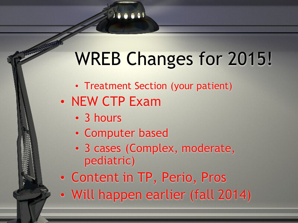 WREB Changes for 2015.