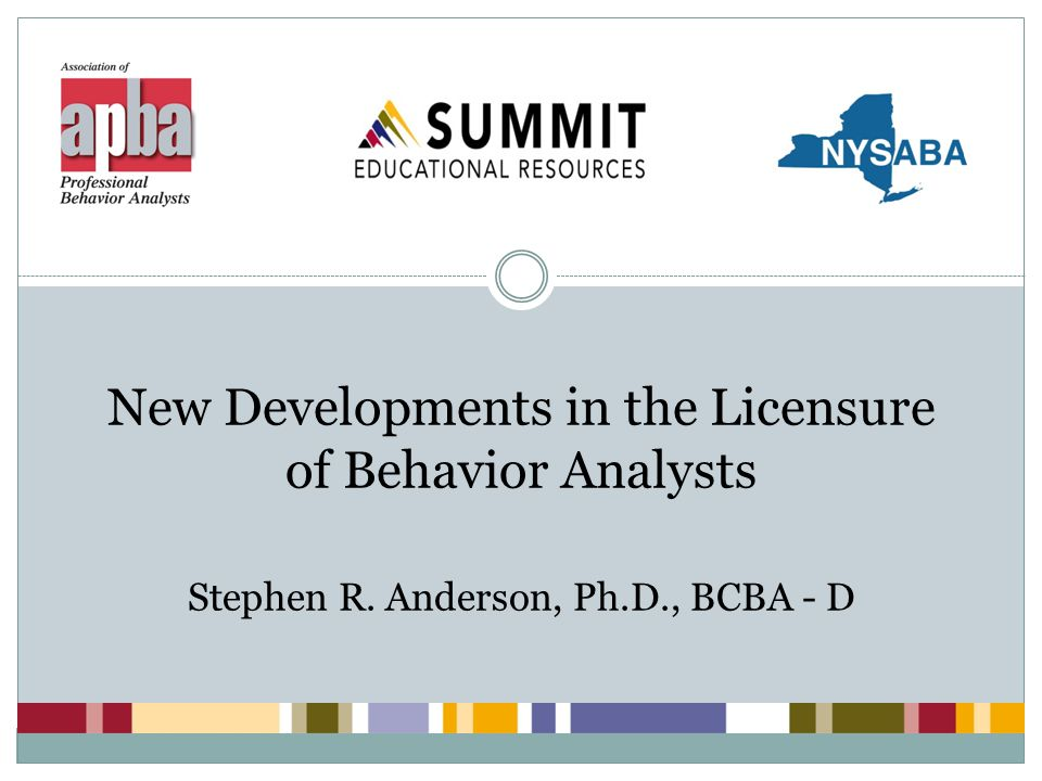 Level 2 BIS 32 All of the above and National board certification in behavior analysis (BCBA); and Master's degree in behavior analysis, or a field closely related to clinical or community psychology which is approved by OPWDD review