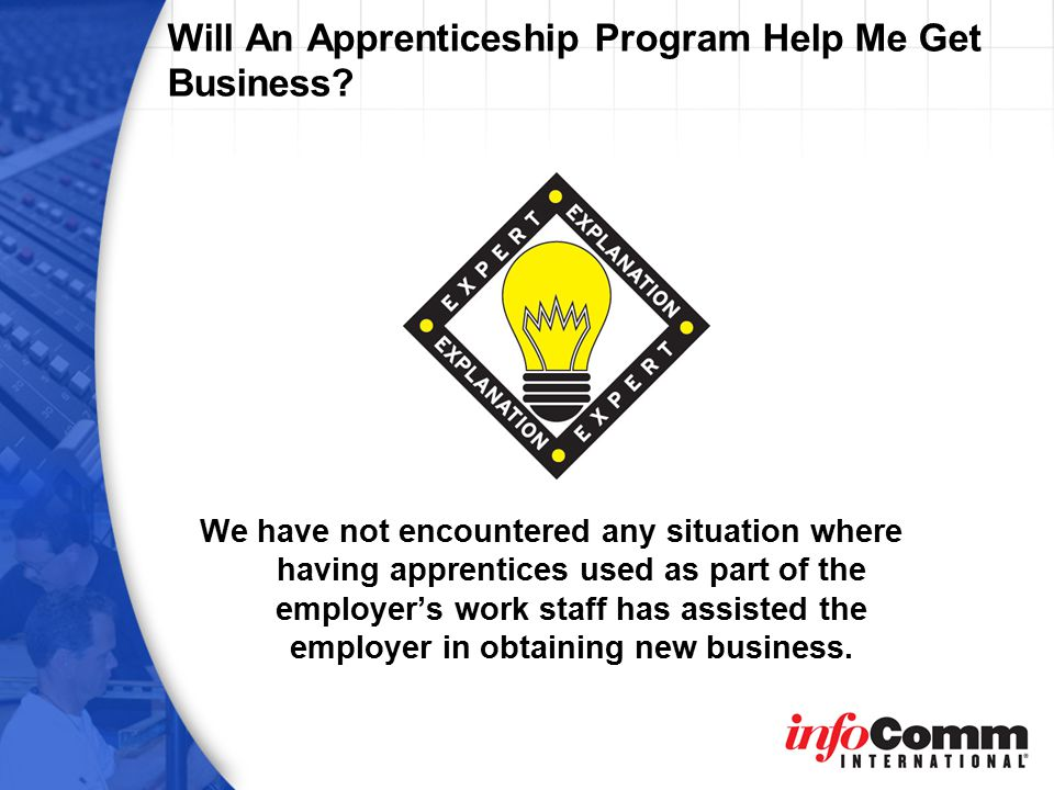 Will An Apprenticeship Program Help Me Get Business.
