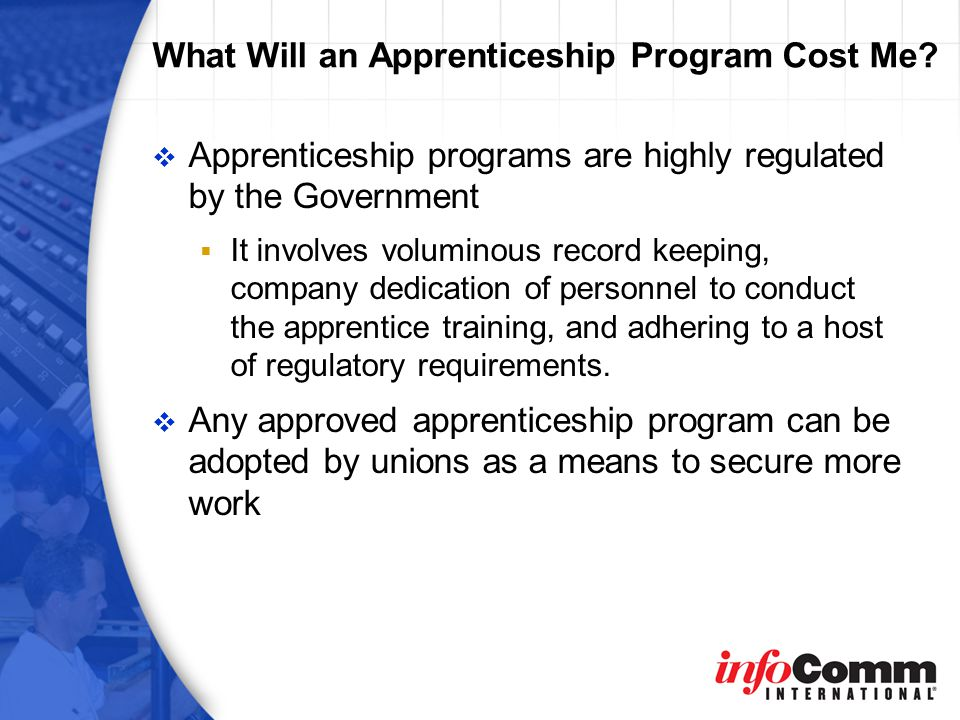 What Will an Apprenticeship Program Cost Me.