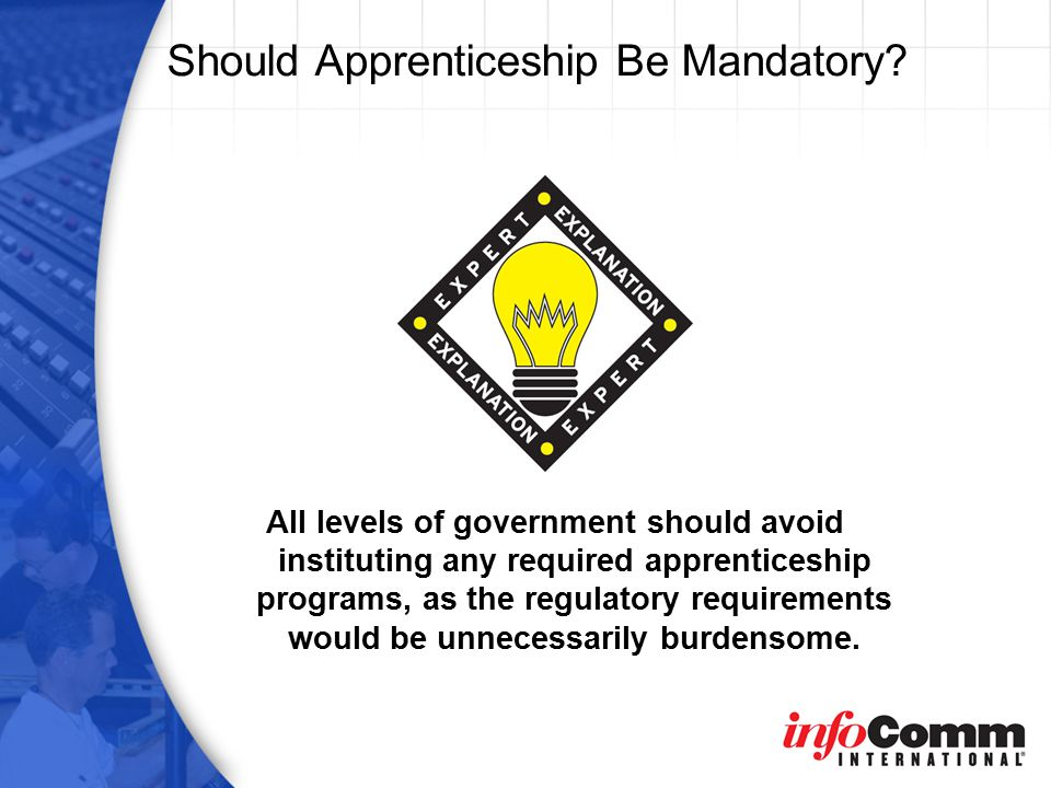 Should Apprenticeship Be Mandatory.