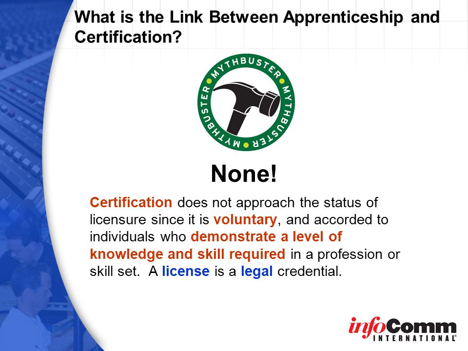 What is the Link Between Apprenticeship and Certification.