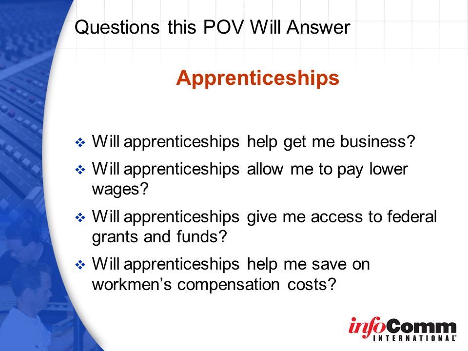 Will an Apprenticeship Program Help Me Secure Federal Funds.