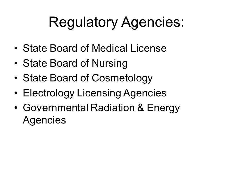 State Medical Board of Ohio Rule #4731-1-12 (A) A physician licensed may delegate the application of light based medical devices only for the purpose of hair removal and only if all the following conditions are met: 1.