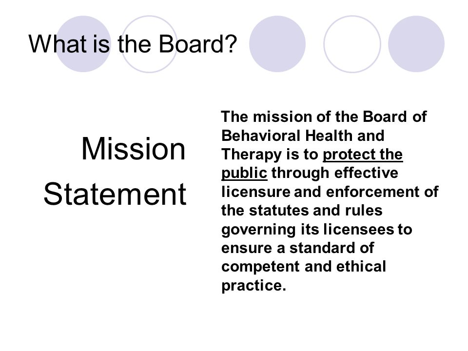 How Does the Board Accomplish its Mission.