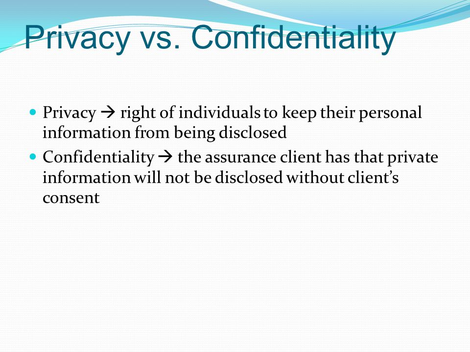 Privacy vs.