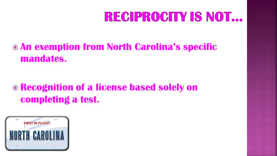  Reciprocity is a term often used when educators need to transfer their certification from one state to another.  This does NOT mean, however, that
