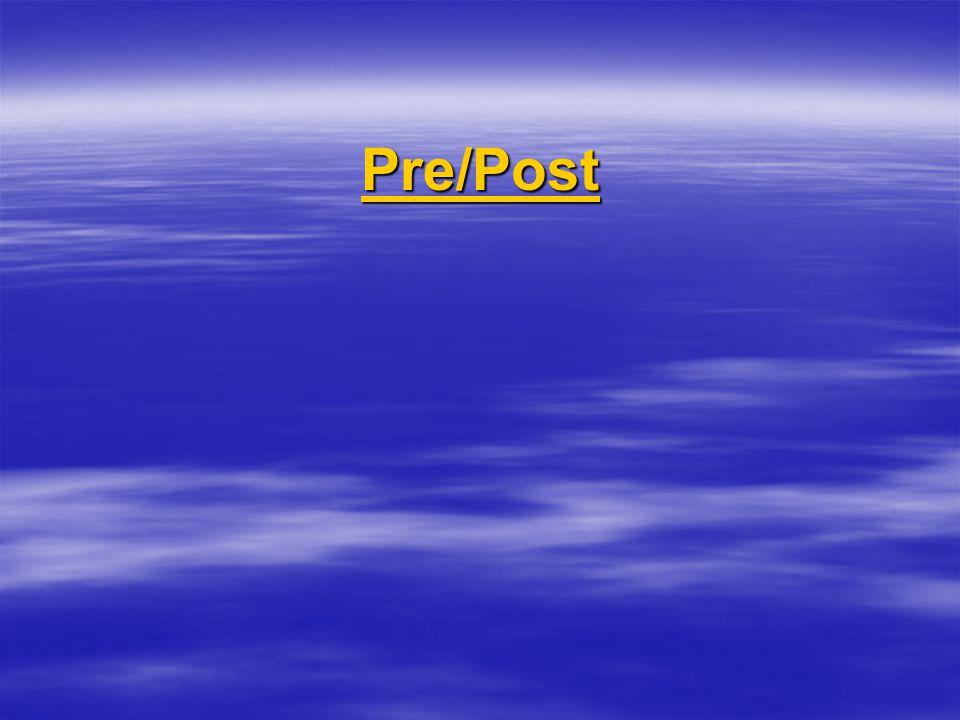 Pre/Post