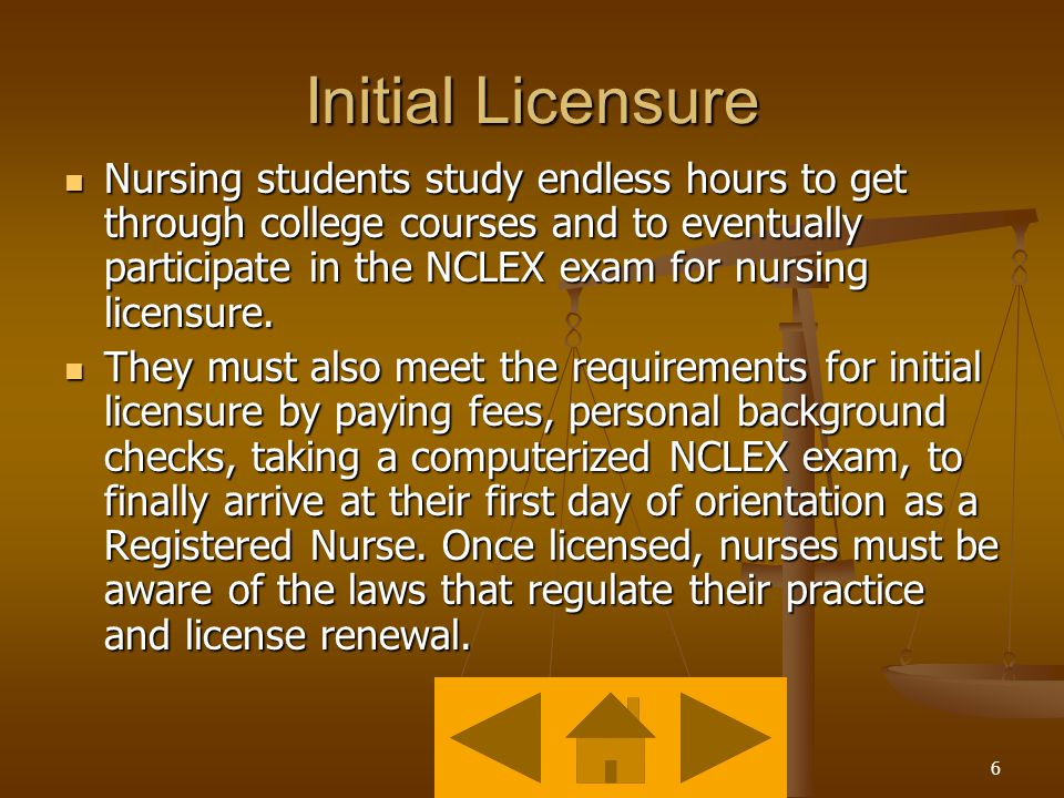 5 What is licensure.
