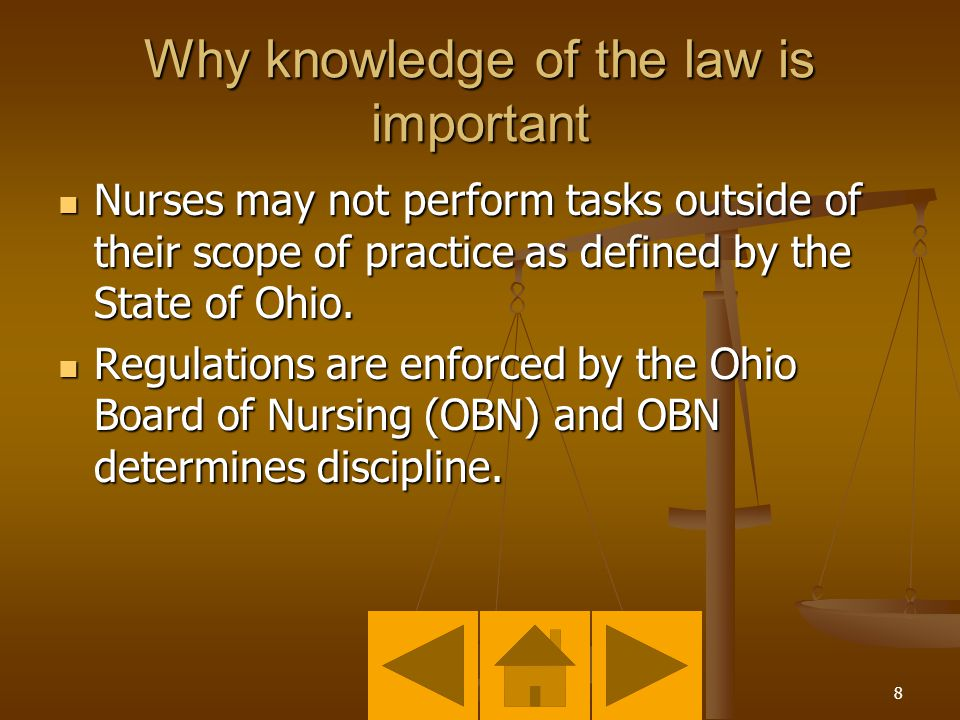 7 Why knowledge of the law is important Public safety.