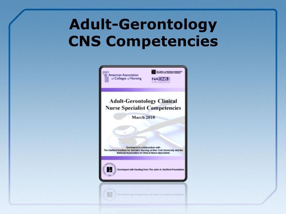 Adult-Gerontology CNS Competencies