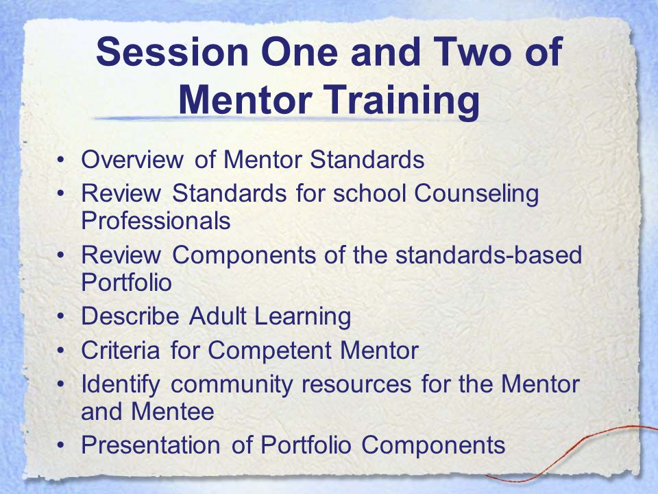 Process for Mentor Training The Indiana Mentoring and Assessment Program for School Counselors (IMAP-SC) is designed to support beginning school counselors in their first two years as a school counseling professional.