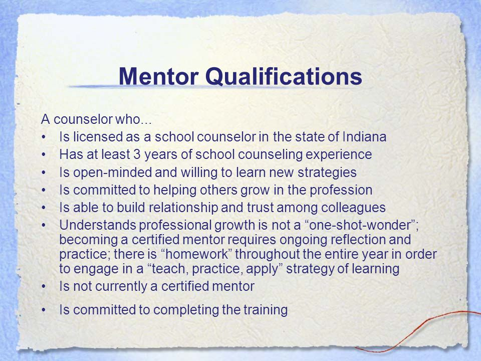 Indiana Licensing Process for Beginning School Counselors (cont.) –(c) A teacher who holds the initial practitioner administrative (515 IAC 8-1-40 through 515 IAC 8- 1-44) or school services license (515 IAC 8-1-45 through 515 IAC 8-1-48) may obtain the proficient practitioner license by completing the assessment during the second year of the initial practitioner license.