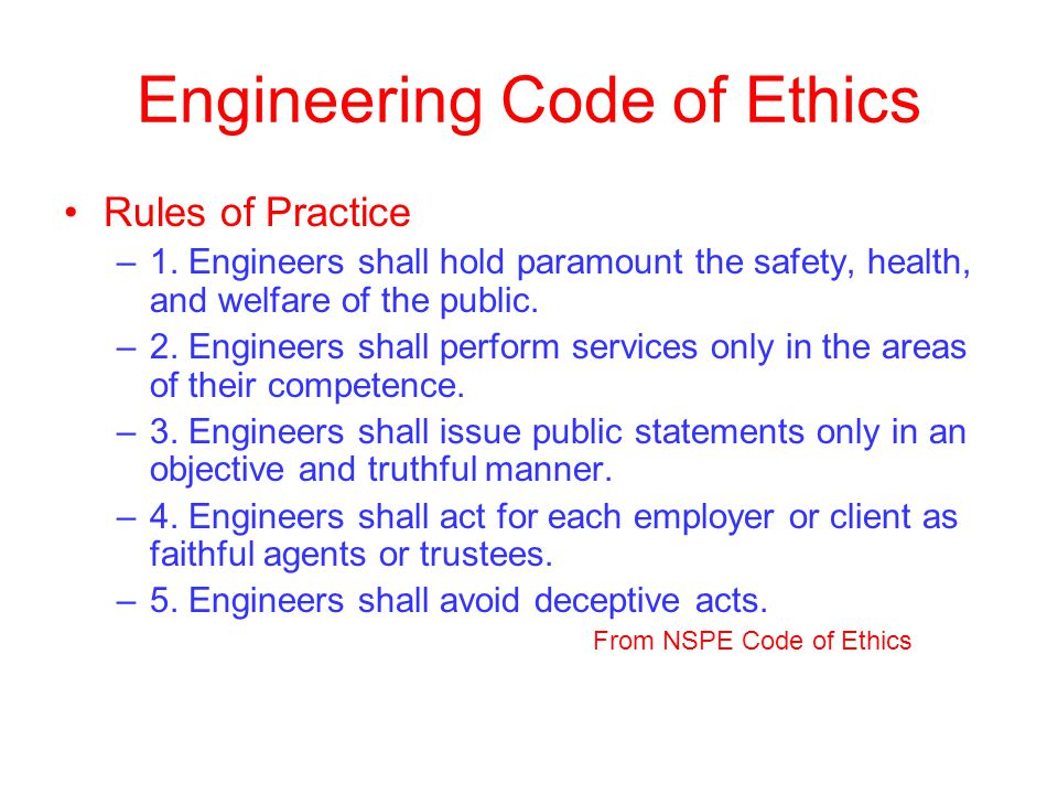 code of ethics engineering