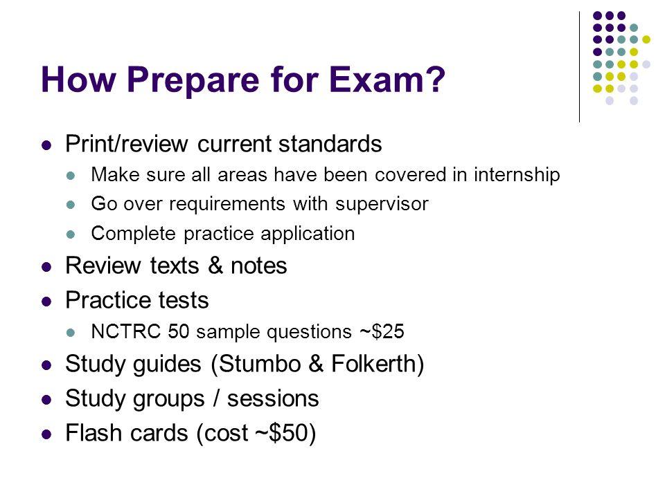 How Prepare for Exam.