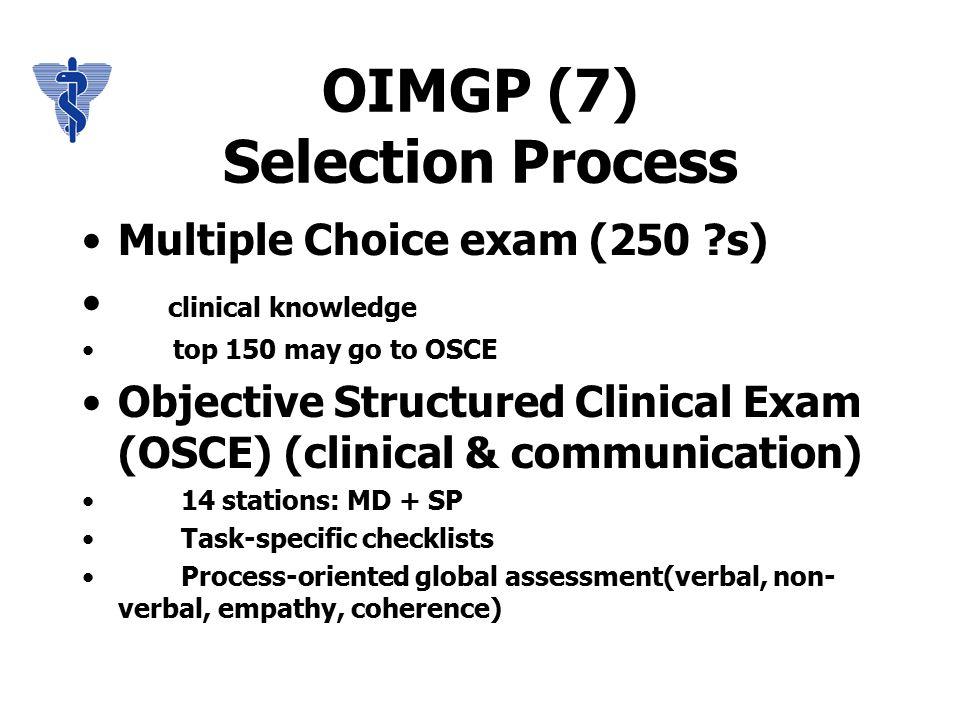 OIMGP (11) Steps to Ontario Licensure OIMG candidate applies to residency program MCCQE Pt.