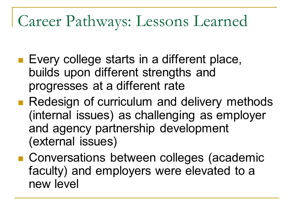 Planned Outcomes Exit Points Legend: Under prepared Adult Learners Health Careers Pathway Jefferson Community and Technical College Proposal Secondary (CCTI)