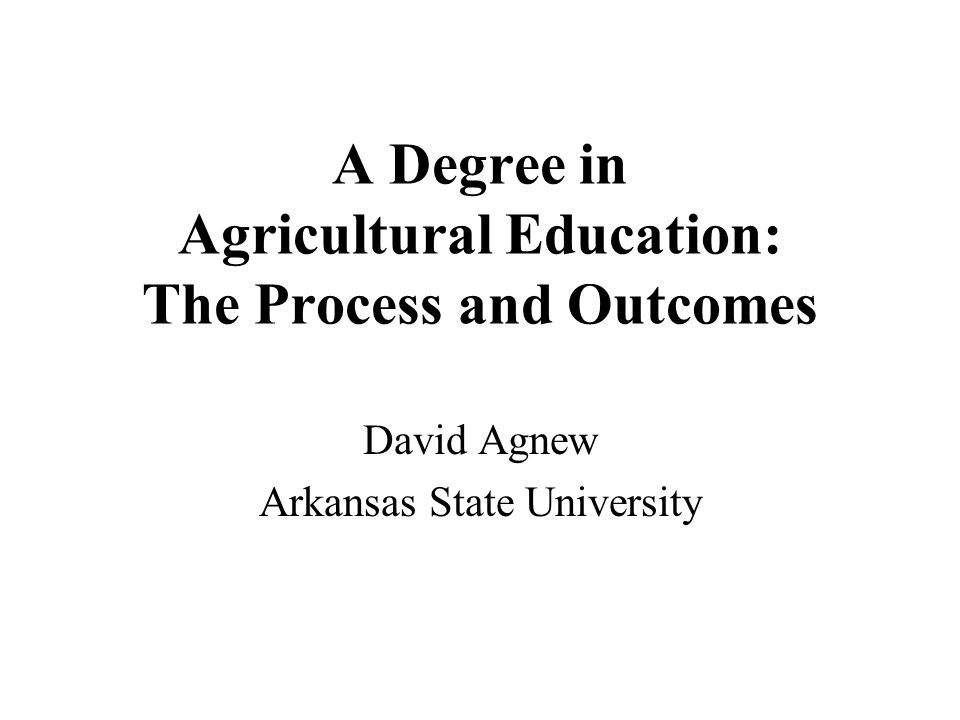 The Big Picture Education (teaching, administration etc,) –Elementary, Middle School, Secondary and Post Secondary Career and Technical Education (Vo Ed) –Education that leads to employment –18-19 different program areas (Ag is just one, but one of the biggest) –In Arkansas each student is required to have access to three vocational programs in public school.