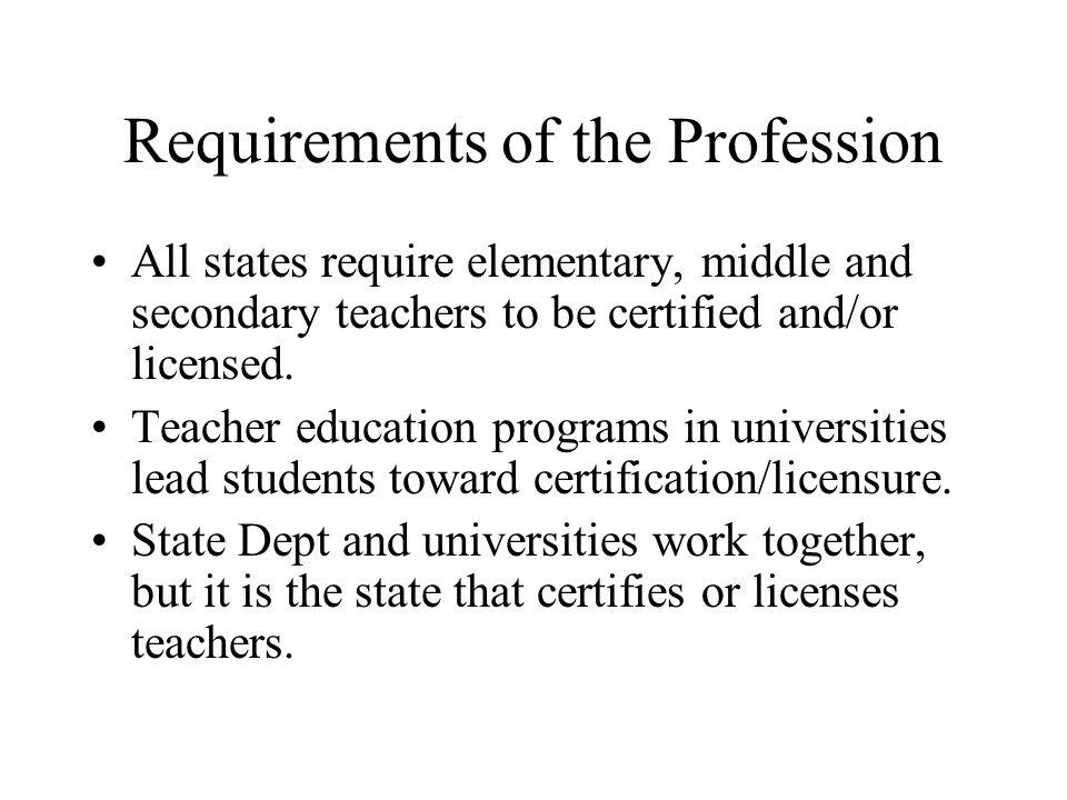 Recent Legislation has Brought Changes No longer course based.