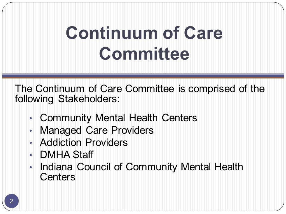 IC 12-7-2-40.6 Continuum of Care Sec.