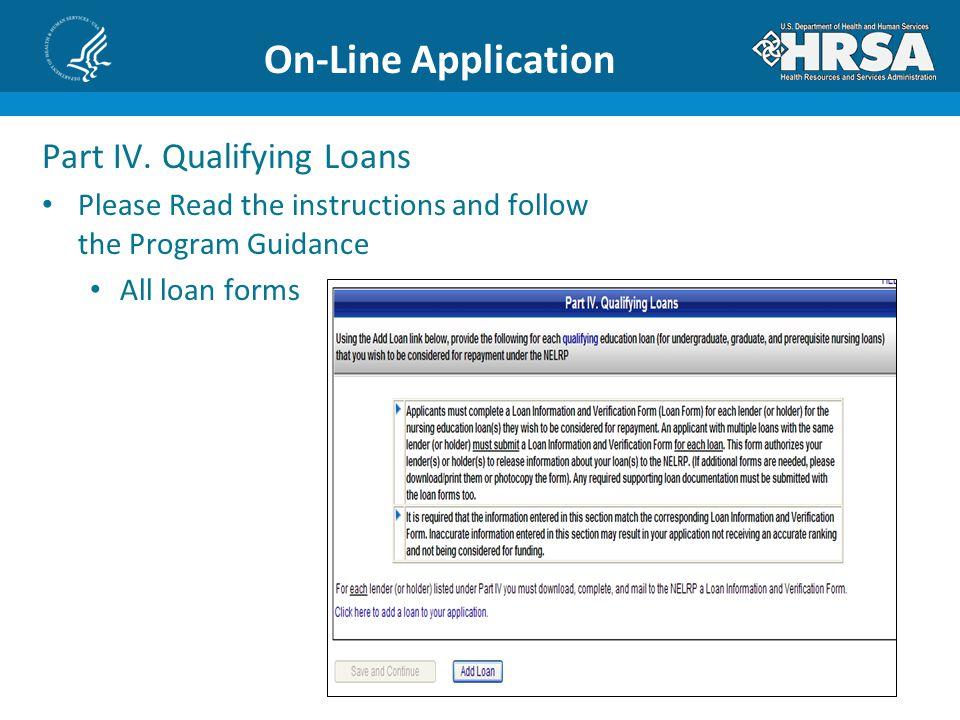 On-Line Application Part IV.