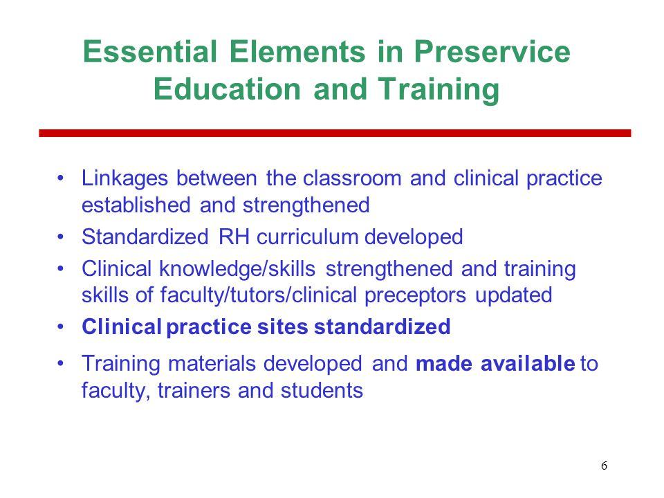 7 JHPIEGO's Preservice Education and Training Program in the Philippines Decade-long program (1987-1998) –Strengthen preservice nursing and midwifery education for FP/RH (strengthen curriculum, trainers, clinical training sites) –27 nursing and midwifery schools Program evaluation (February-March 2001) –Study Sample:16 schools (8 nursing, 8 midwifery)