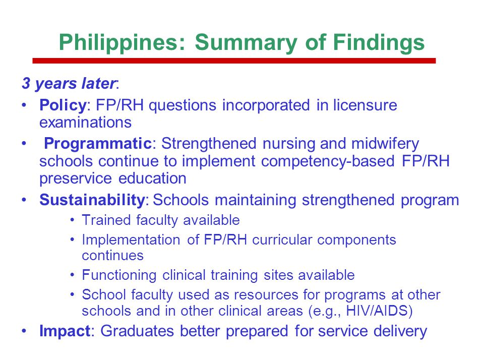 PAC/OJT Learning Package Addresses the Need for More Flexible Training Main advantages –Enables the training of individual or a small number of trainees without putting undue burden on trainers or training site –Is much more flexible, and requires less logistic support than traditional group-based training