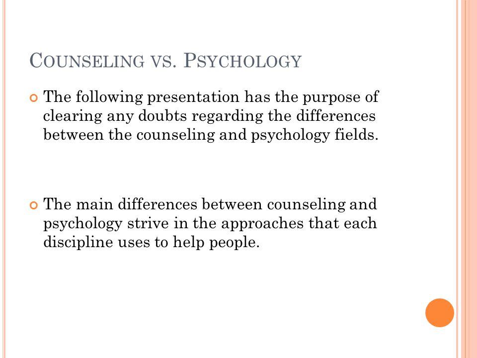 C OUNSELING VS.