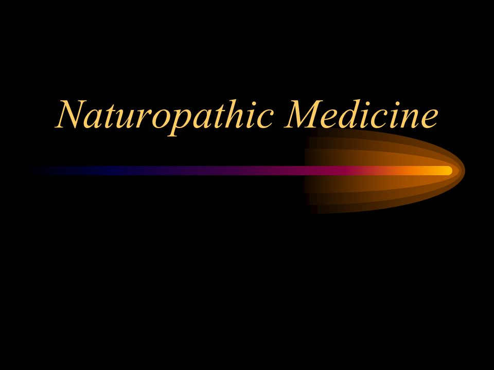 Two views of naturopathy Bastyr University (web page, 2006) Naturopathic medicine is a distinct profession of primary health care, emphasizing prevention, treatment and the promotion of optimal health through the use of therapeutic methods and modalities, which encourage the self- healing process…