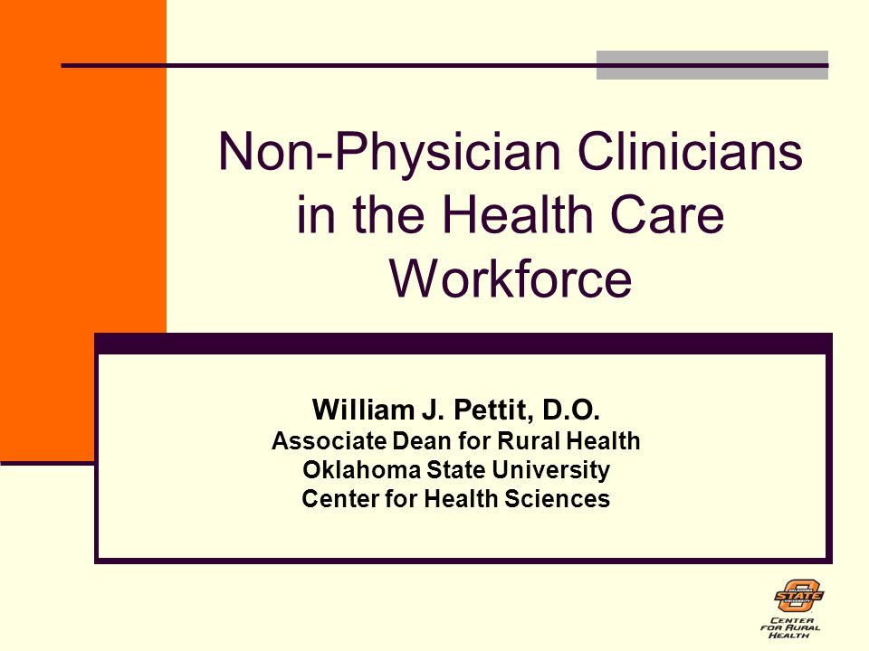 Non-Physician Clinicians in the Health Care Workforce William J.