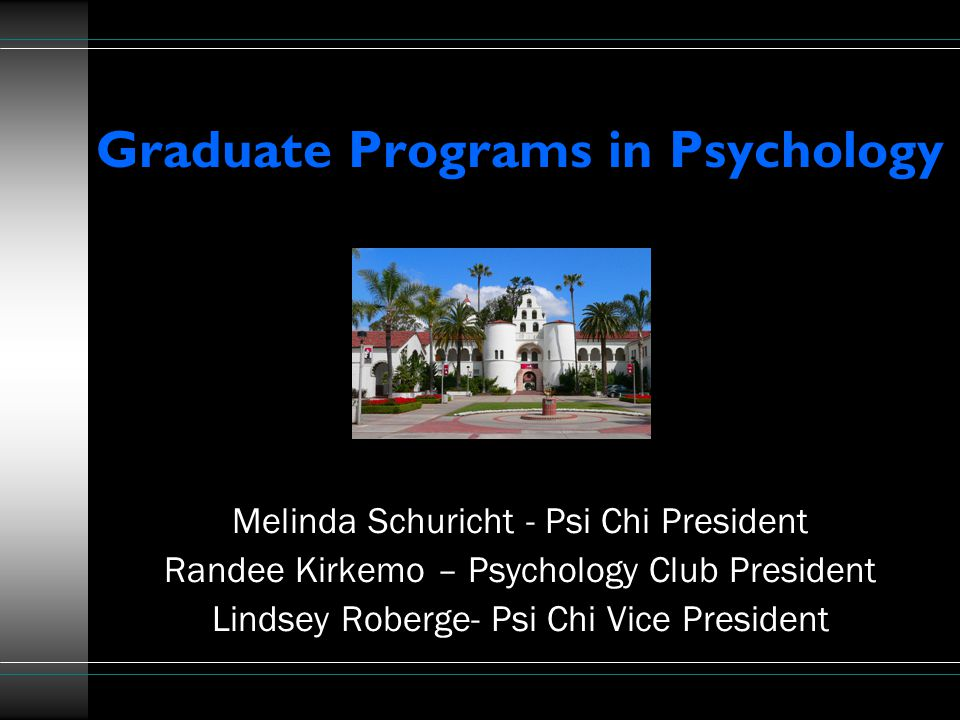 Outline Types of graduate degrees and programs What graduate schools are looking for in an applicant Programs offered at SDSU How to get involved as an undergraduate