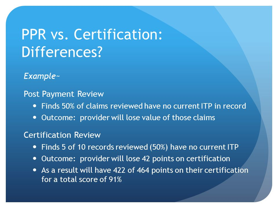 PPR vs. Certification: Differences.