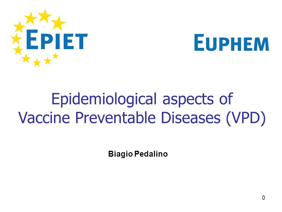 0 Epidemiological aspects of Vaccine Preventable Diseases (VPD) Biagio Pedalino