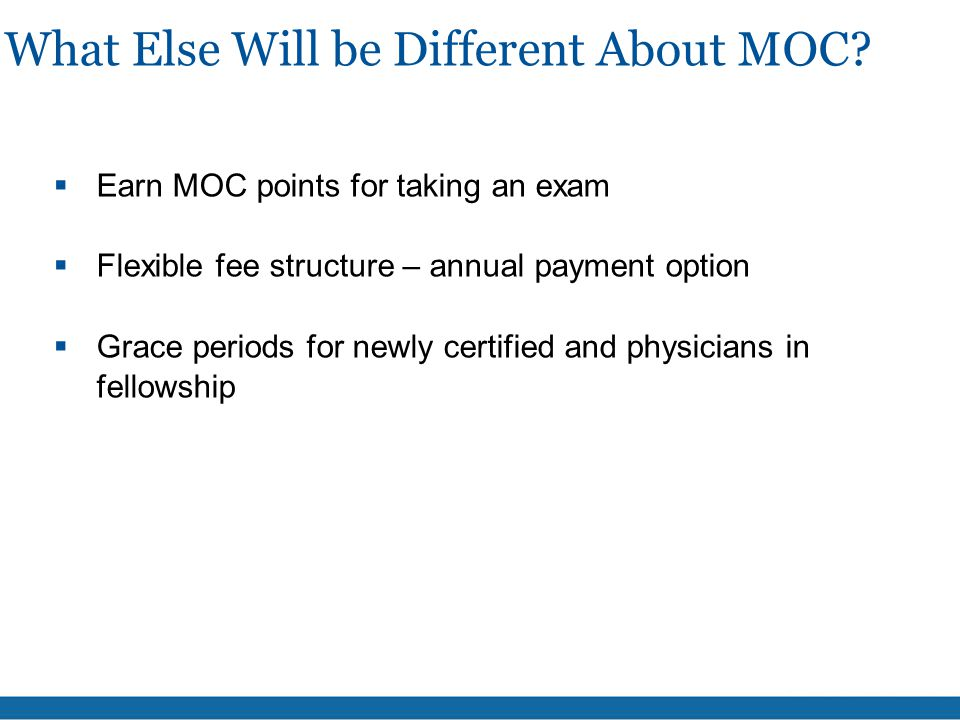 What Else Will be Different About MOC.