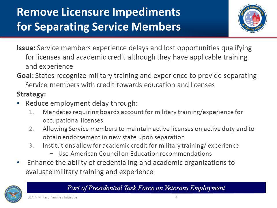 USA 4 Military Families Initiative 5 1.