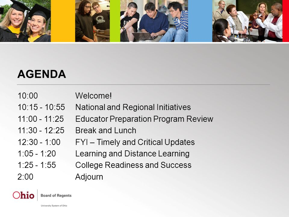SESSION 1: NATIONAL AND REGIONAL INITIATIVES - Metrics - ISSUE: NCATE/TEAC Missing - HLC Update - Option 2 -CAEP