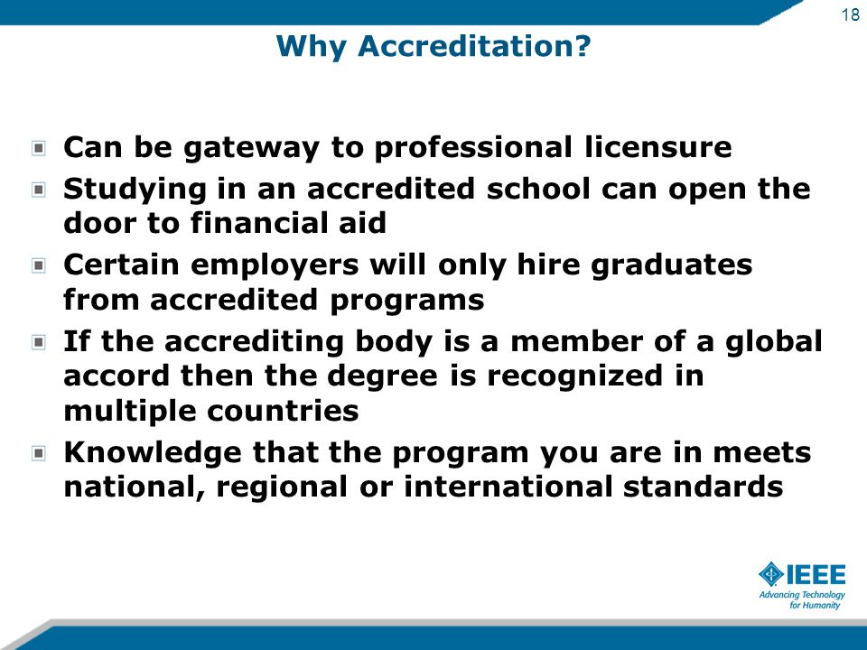 18 Why Accreditation.