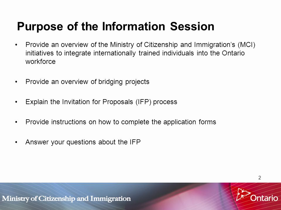 13 IFP Submission Requirements Applicants must submit, in a sealed package, a completed application form, including: One (1) original signed hard copy of the Application Form, including all required appendices for your category (see Application Checklist at the back of the application form).