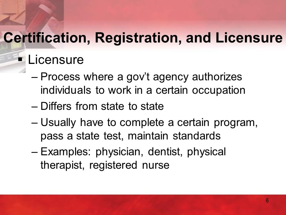 7 Accrediting Agencies  Purpose –Ensures that program of study meets quality competency standards –Preparation for employment  Commission on Accreditation of Allied Health Education Programs (CAAHEP)  Accrediting Bureau of Health Education Schools (ABHES)