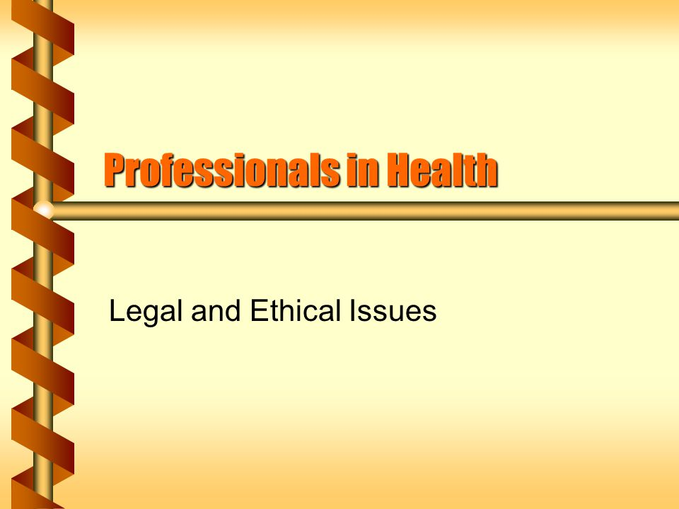 A Professional is Guided by: b Personal code of ethics b A system of laws Violations are dealt with by a state board of the profession or via the courts.