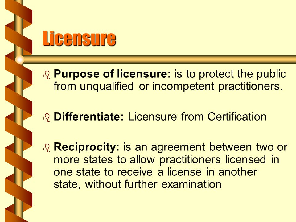 Licensure Revocation b A suspension of or refusal to renew license.