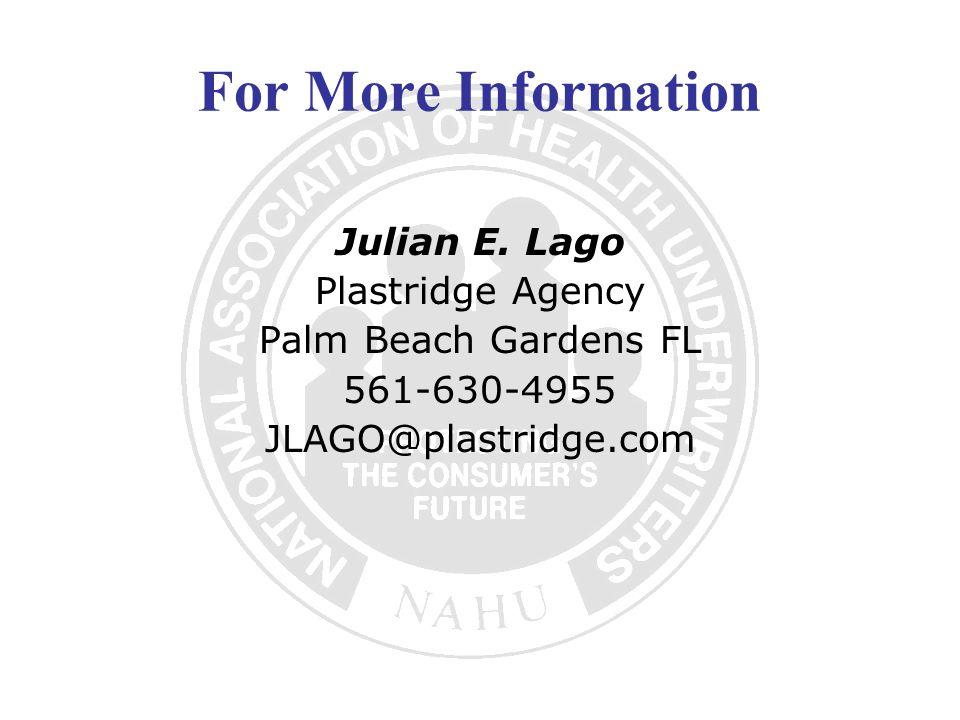 For More Information Julian E.