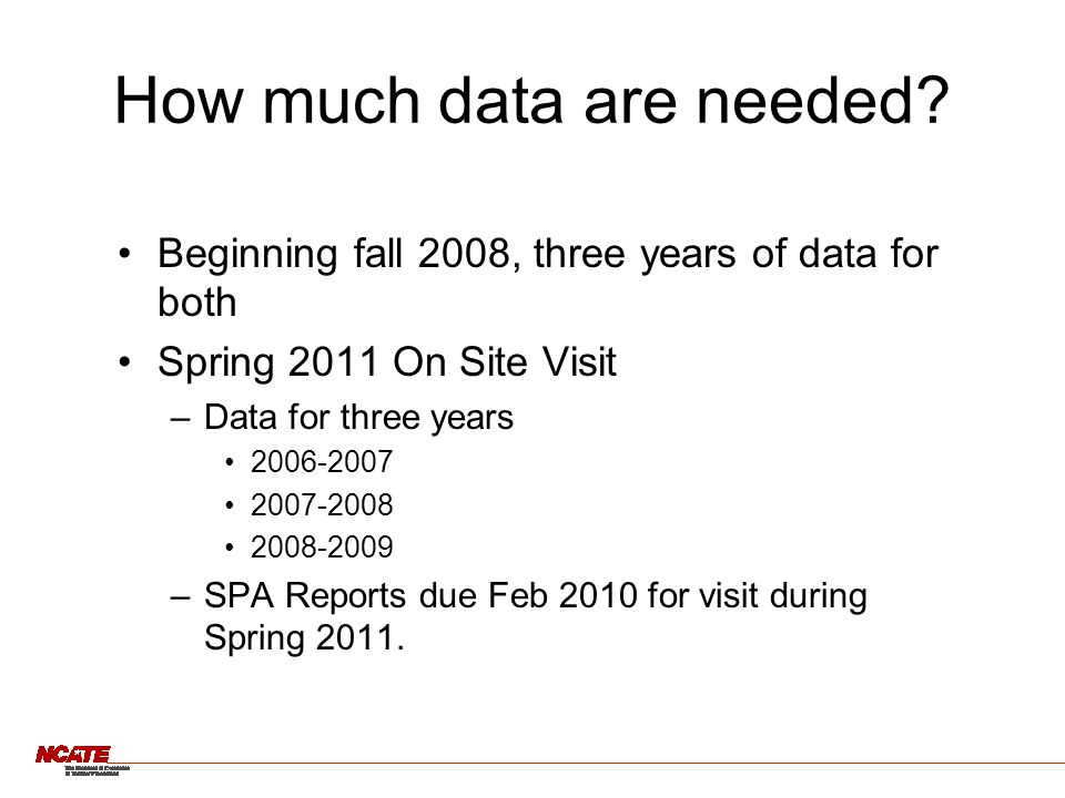 How much data are needed.